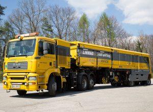 LINMAG's SF02W-FS Rail Milling Truck für Australien, LINMAG's SF02W-FS Rail Milling Truck for Australia